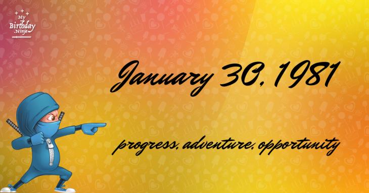 January 30, 1981 Birthday Ninja