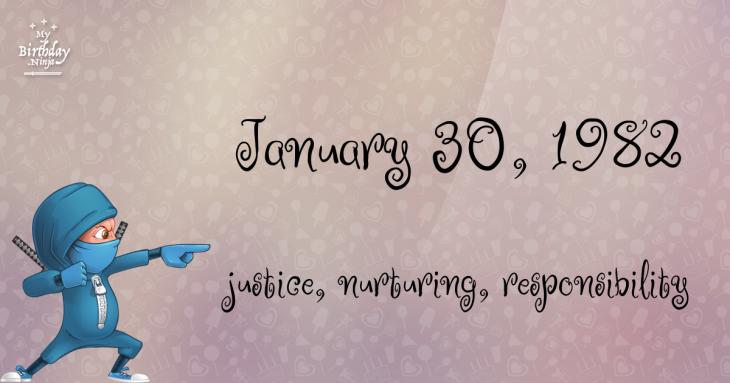 January 30, 1982 Birthday Ninja