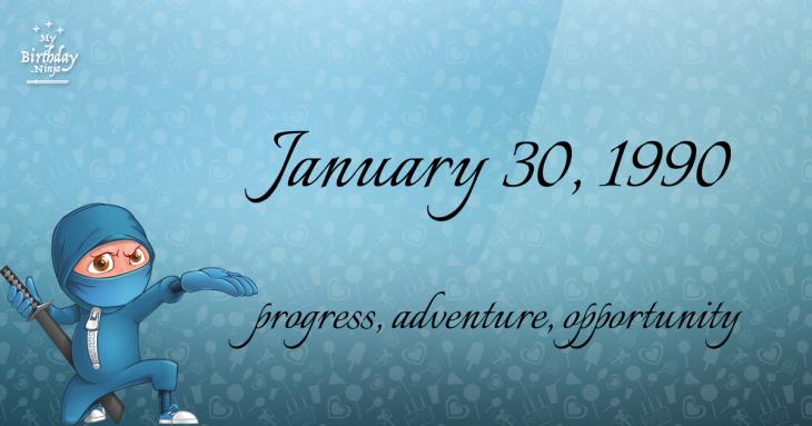 January 30, 1990 Birthday Ninja