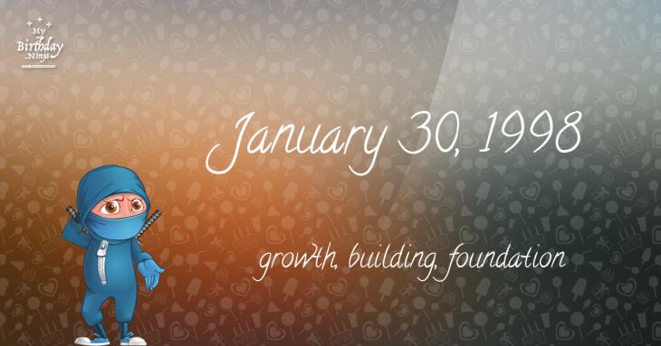 January 30, 1998 Birthday Ninja