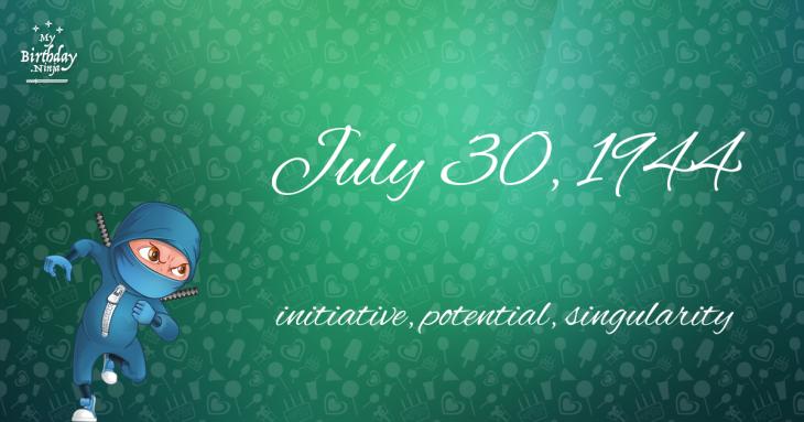 July 30, 1944 Birthday Ninja