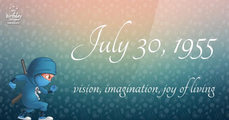 July 30, 1955 Birthday Ninja