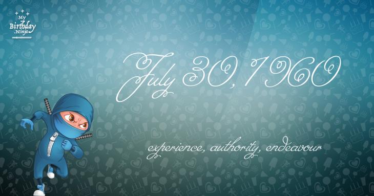 July 30, 1960 Birthday Ninja