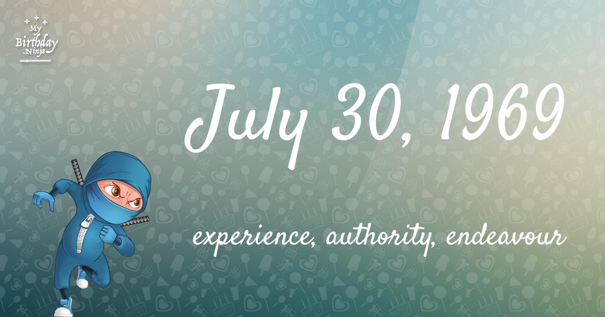 July 30, 1969 Birthday Ninja Poster
