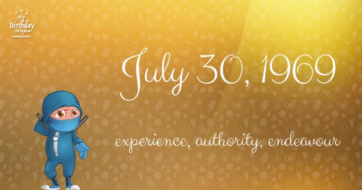 July 30, 1969 Birthday Ninja