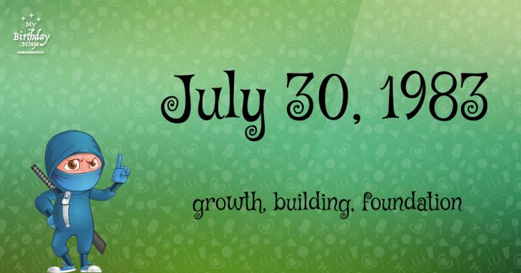 July 30, 1983 Birthday Ninja