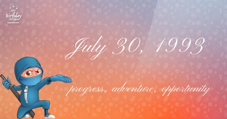 July 30, 1993 Birthday Ninja