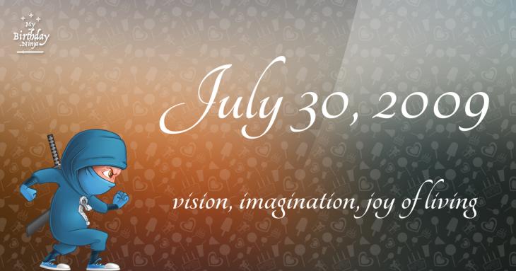 July 30, 2009 Birthday Ninja