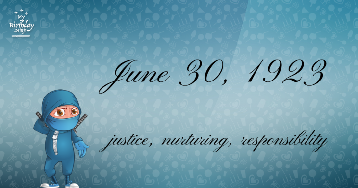 June 30, 1923 Birthday Ninja