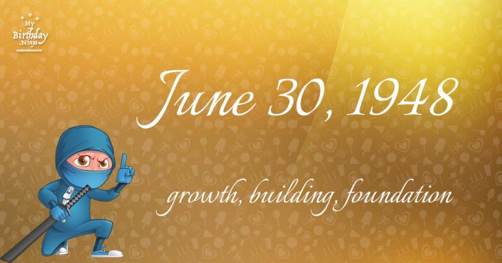 June 30, 1948 Birthday Ninja