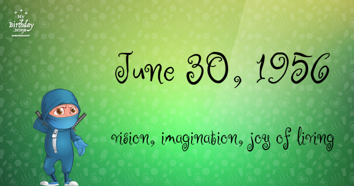 June 30, 1956 Birthday Ninja