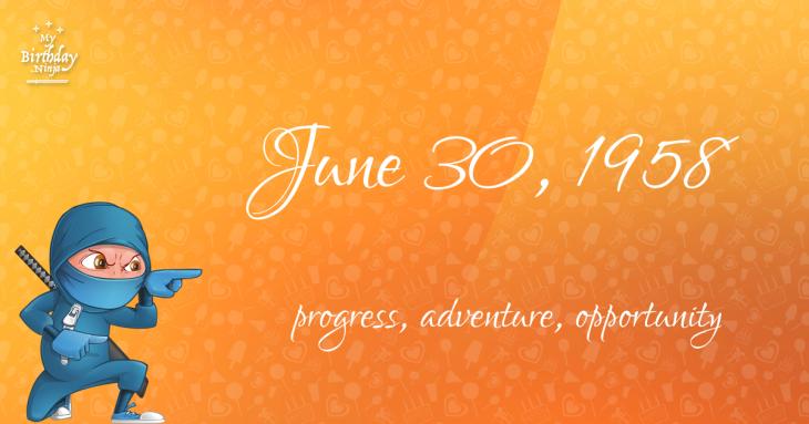 June 30, 1958 Birthday Ninja