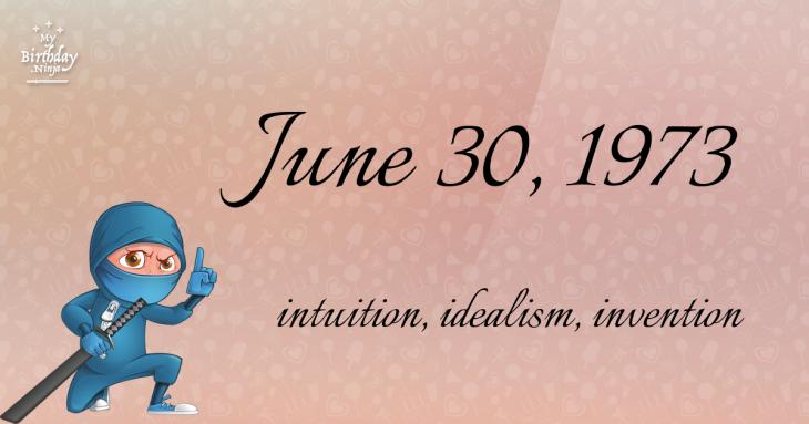 June 30, 1973 Birthday Ninja