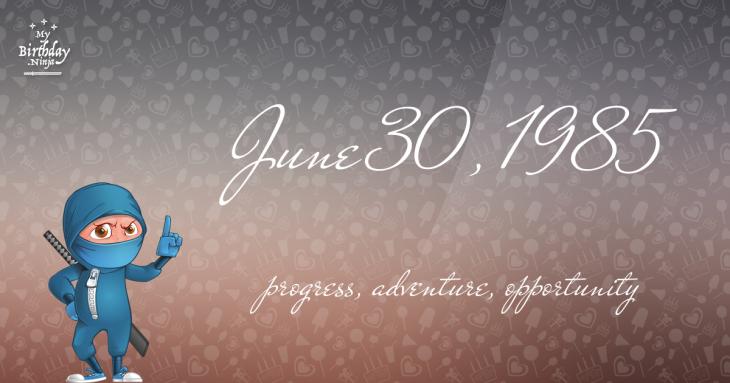 June 30, 1985 Birthday Ninja