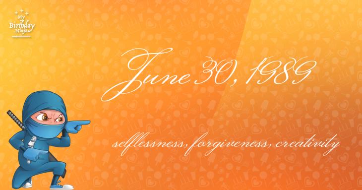 June 30, 1989 Birthday Ninja