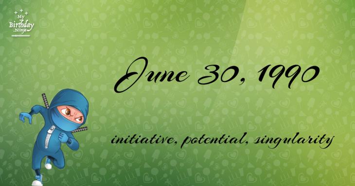 June 30, 1990 Birthday Ninja
