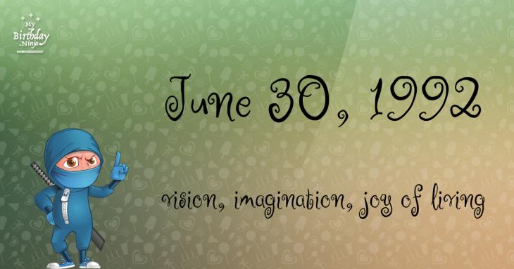June 30, 1992 Birthday Ninja