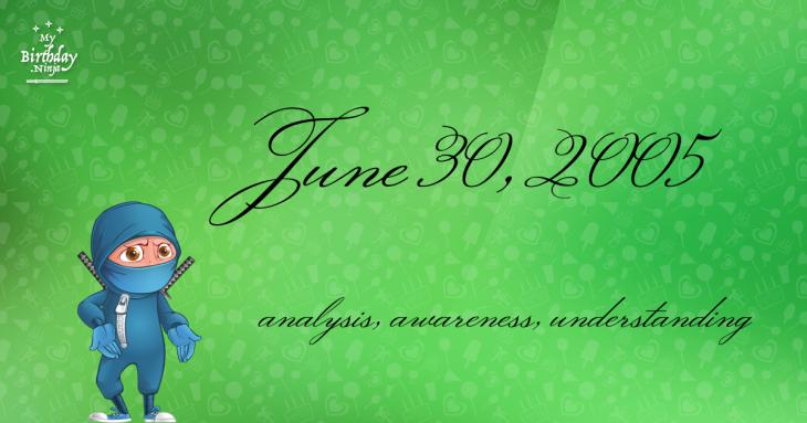 June 30, 2005 Birthday Ninja
