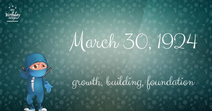 March 30, 1924 Birthday Ninja