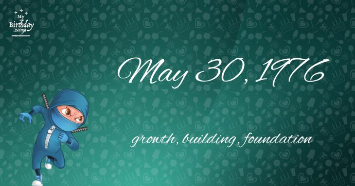 May 30, 1976 Birthday Ninja