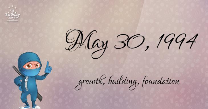 May 30, 1994 Birthday Ninja