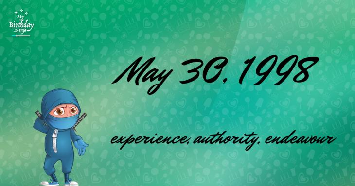 May 30, 1998 Birthday Ninja