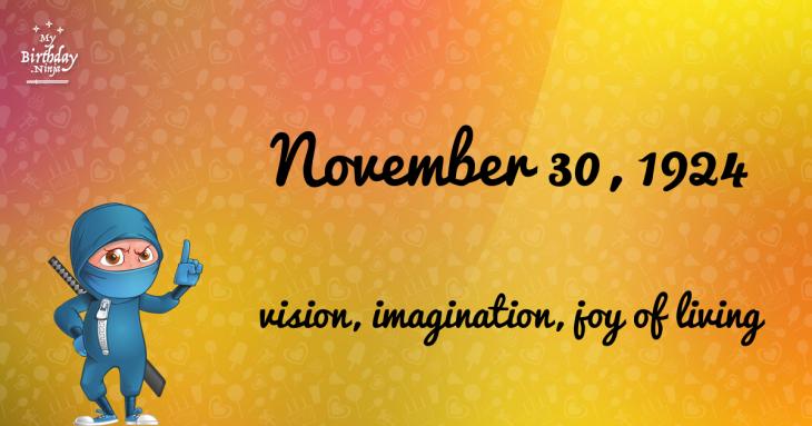 November 30, 1924 Birthday Ninja
