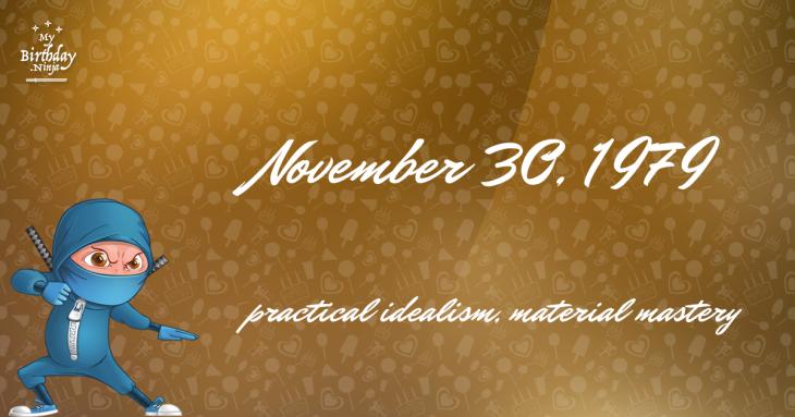November 30, 1979 Birthday Ninja