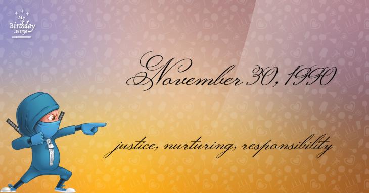 November 30, 1990 Birthday Ninja