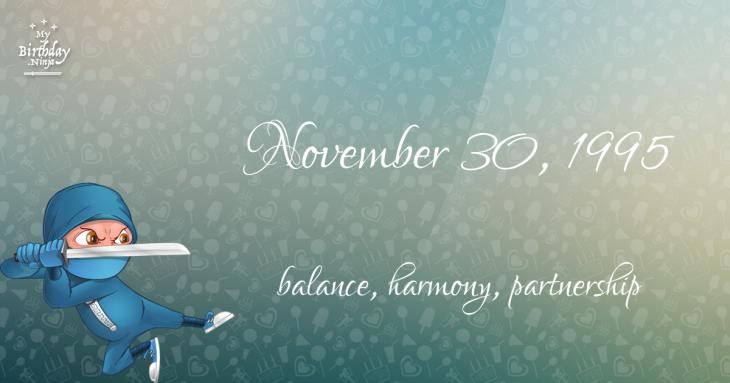 November 30, 1995 Birthday Ninja
