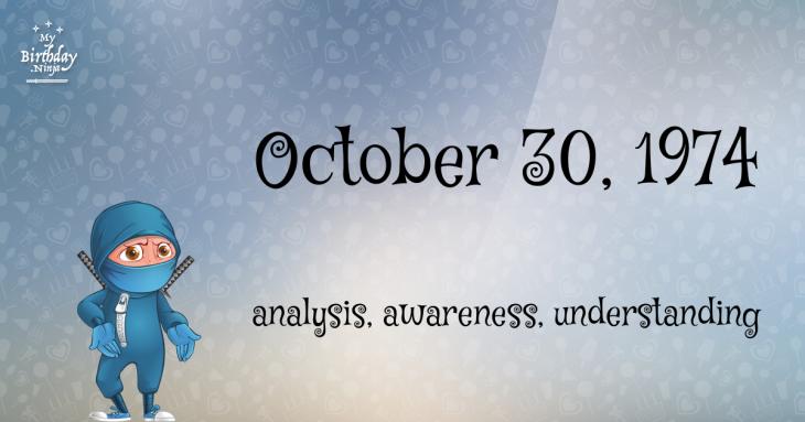 October 30, 1974 Birthday Ninja