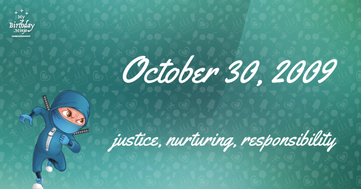 October 30, 2009 Birthday Ninja