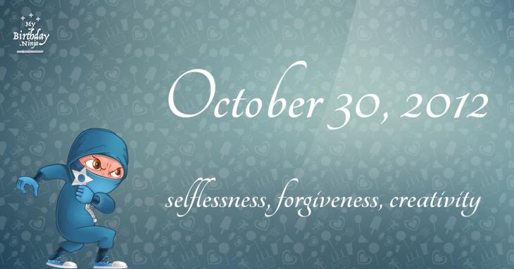 October 30, 2012 Birthday Ninja