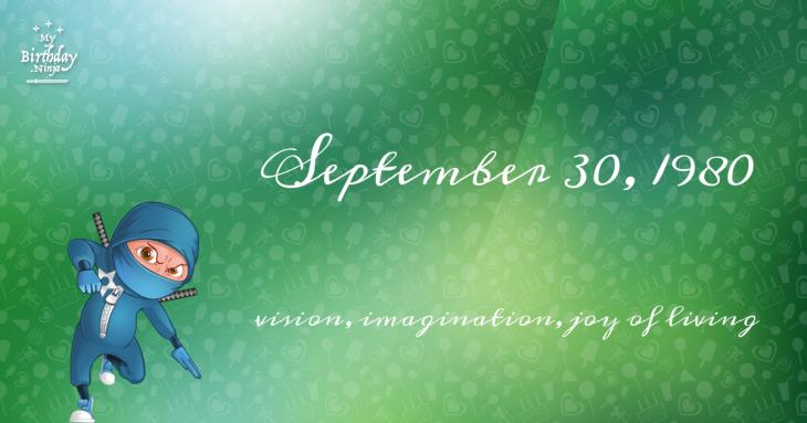 September 30, 1980 Birthday Ninja