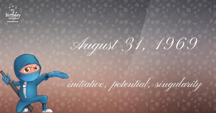 August 31, 1969 Birthday Ninja