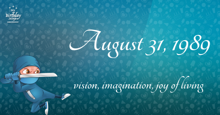 August 31, 1989 Birthday Ninja