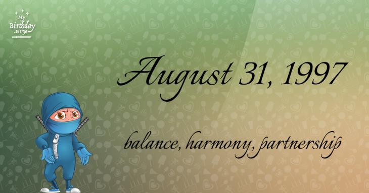 August 31, 1997 Birthday Ninja