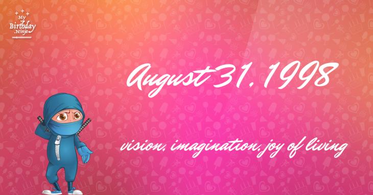 August 31, 1998 Birthday Ninja