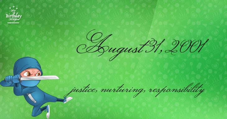 August 31, 2001 Birthday Ninja