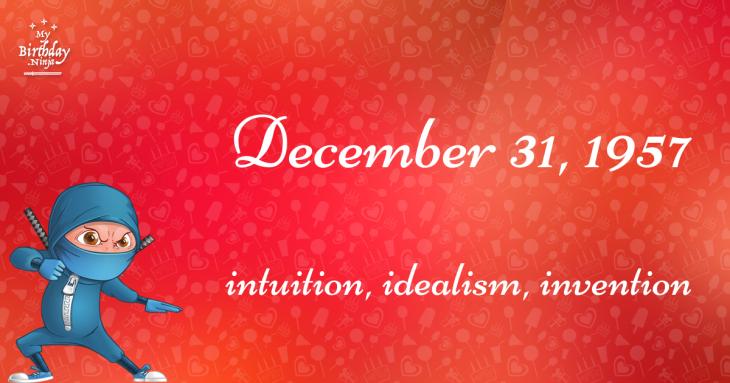 December 31, 1957 Birthday Ninja