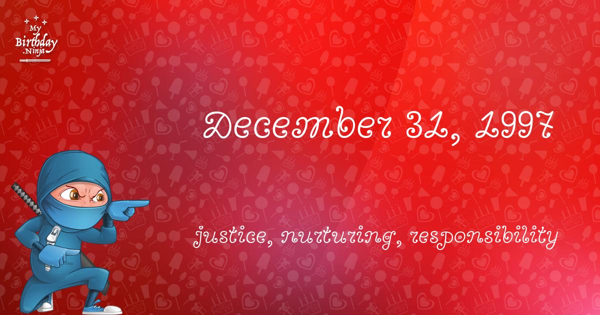 December 31, 1997 Birthday Ninja Poster