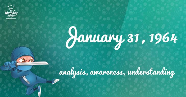 January 31, 1964 Birthday Ninja