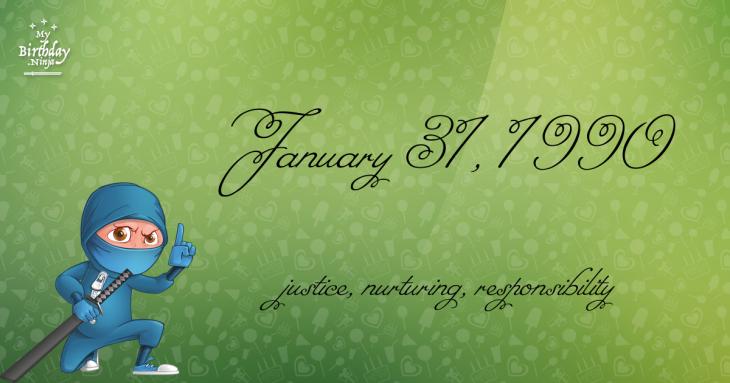January 31, 1990 Birthday Ninja
