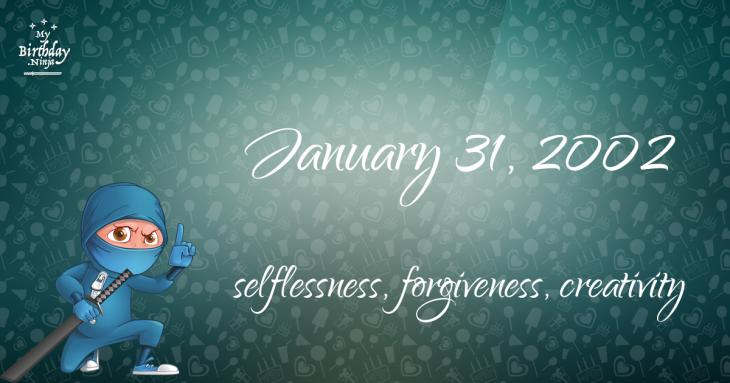 January 31, 2002 Birthday Ninja