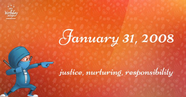 January 31, 2008 Birthday Ninja