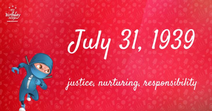 July 31, 1939 Birthday Ninja