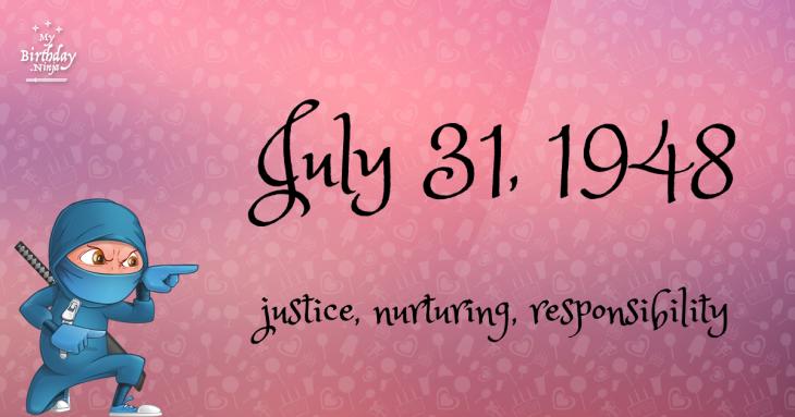 July 31, 1948 Birthday Ninja