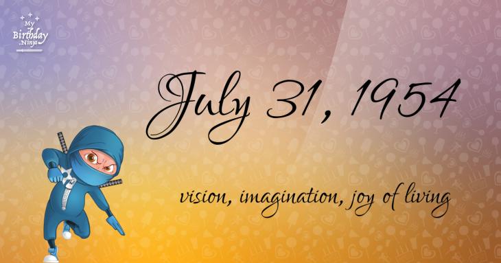 July 31, 1954 Birthday Ninja