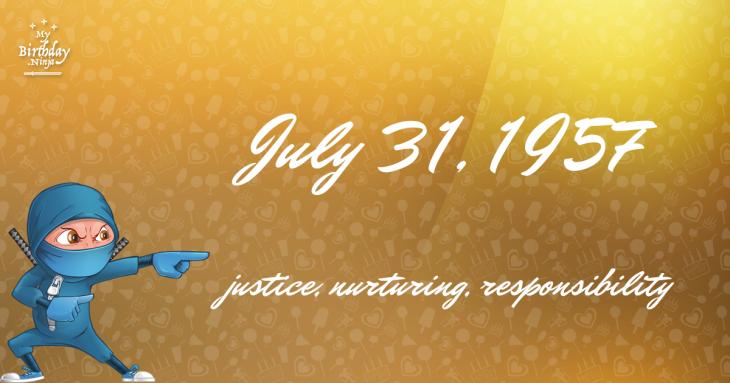 July 31, 1957 Birthday Ninja