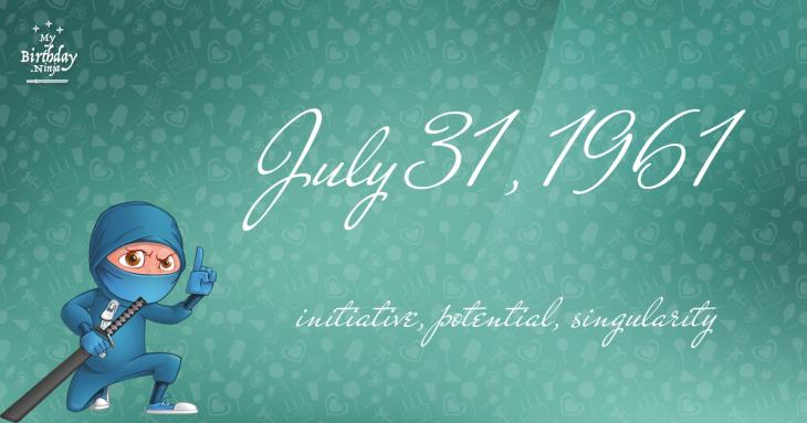 July 31, 1961 Birthday Ninja